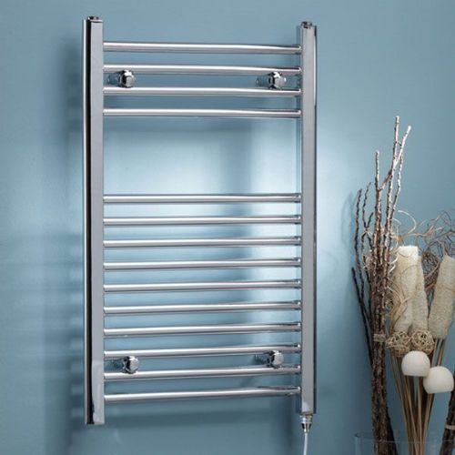 Kartell Curved Thermostatic Electric Towel Rail - 500mm x 800mm Chrome